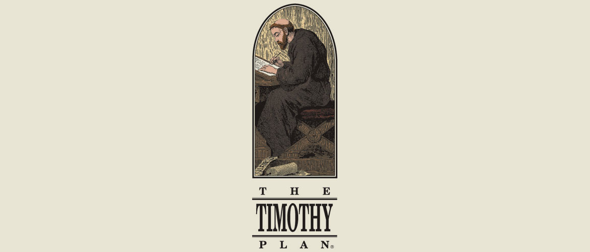 original timothy plan logo with image of monk representing biblical morals